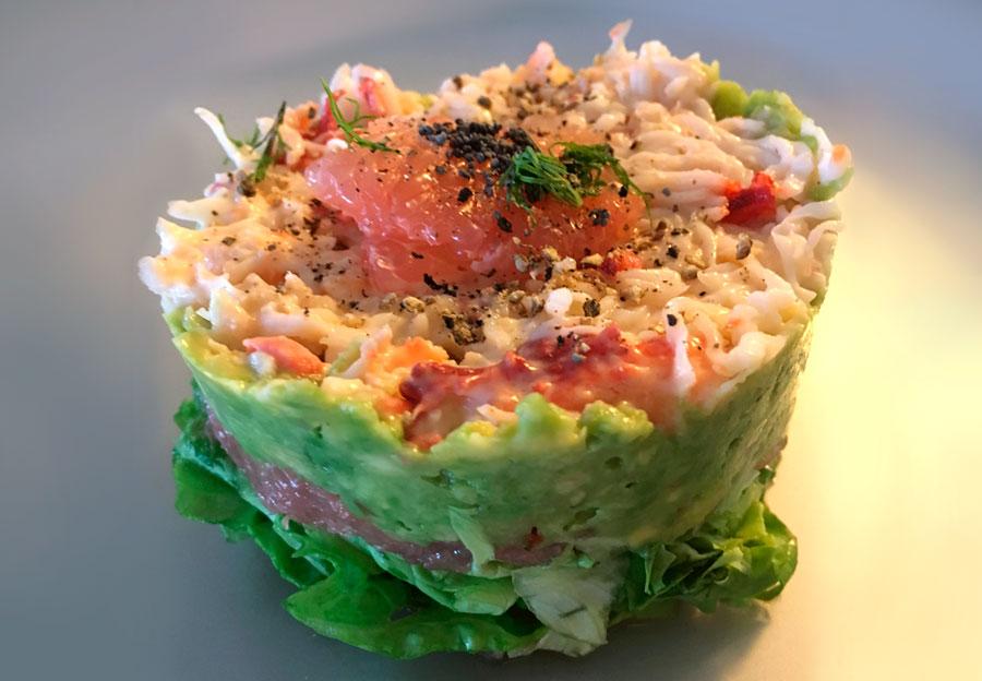 Plat végétarien : salade composée
